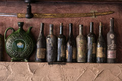 Vintage knives on the wall Stock Photo