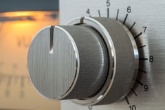 Vintage Knob Close-Up. Close up of Record Level Knob of old cassette recorder Royalty Free Stock Photography