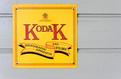 Vintage Kodak Film Company Advertising Sign Stock Image