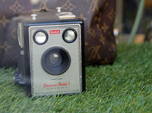 Vintage kodak brownie camera model 1 Royalty Free Stock Image