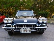 1957VINTAGE korwety samochód obrazy royalty free