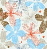 Vintage laçado sem emenda decorativo floral r do teste padrão ilustração stock