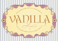 Vintage label. Cute vintage label with sample text Royalty Free Stock Photos
