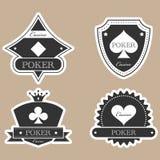 Vintage label. Vintage casino labels silhouette set Stock Image