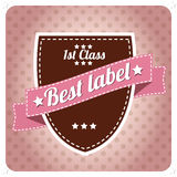 Vintage label Stock Photography