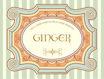 Vintage label 3 Royalty Free Stock Image
