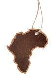 Vintage label, africa continent silhouette Royalty Free Stock Image