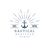 Vintage label with an anchor Royalty Free Stock Photos