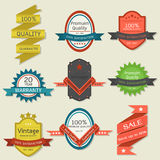 Vintage label-badge design Royalty Free Stock Photos