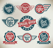 Vintage label banners and ribbons Royalty Free Stock Photography