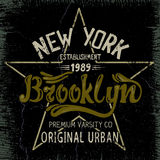 Vintage label with Brooklyn City design Stock Photo