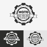 Vintage label with chain Royalty Free Stock Photography