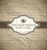 Vintage label Stock Photos