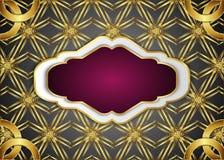 Vintage label and dark golden background. Blank for message. royalty free illustration