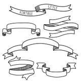 Vintage label design elements banners and ribbons vector illustration