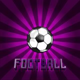 Football, uniting the whole world. Vintage label design. Glow light effect. Sale banner design.in the center of the ball for football royalty free illustration