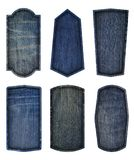 Vintage label design jeans texture background Stock Image