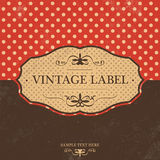 Vintage Label Design with Retro Background Stock Images