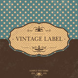 Vintage Label Design with Retro Background Royalty Free Stock Photo