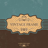 Vintage Label Design with Retro Background Royalty Free Stock Images