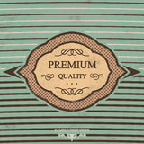 Vintage Label Design with Retro Background Stock Image