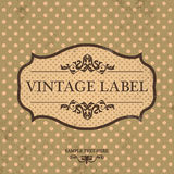 Vintage Label Design with Retro Background Stock Photography