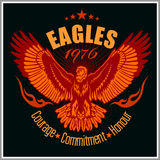 Vintage label Eagle - Retro emblem Stock Photo