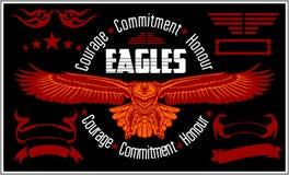 Vintage label Eagle - Retro emblem Stock Images
