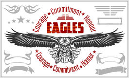 Vintage label Eagle - Retro emblem Royalty Free Stock Photography