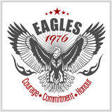 Vintage label Eagle - Retro emblem Royalty Free Stock Images