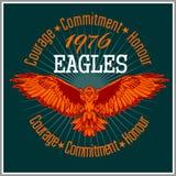 Vintage label Eagle - Retro emblem Stock Image