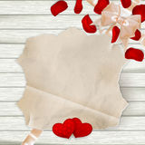 Vintage label with flower petals. EPS 10 Royalty Free Stock Photos