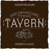 Vintage label font named Tavern. Royalty Free Stock Images