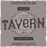Vintage label font named Tavern. Royalty Free Stock Photos
