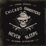 Vintage label with gangster Royalty Free Stock Images