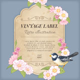 Vintage Label Illustration Stock Images
