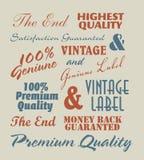 Vintage label inscriptions. Vintage label inscription based background Royalty Free Stock Photos