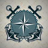 Vintage label with a nautical theme Royalty Free Stock Photos