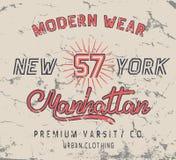 Vintage label with New York City design Stock Photo