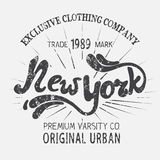 Vintage label with New York City design Royalty Free Stock Images