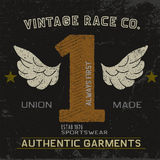 Vintage label with number one. Grunge effect.Typography design for t-shirts Stock Photo