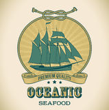 Vintage label - Oceanic Stock Photography