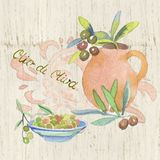 Vintage label for olive oil. In the style of Provence Royalty Free Stock Photos