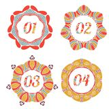 Vintage label options with floral design. Vintage label options 01, 02, 03, 04 with retro design Royalty Free Stock Image