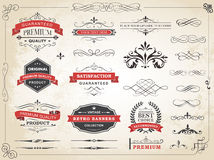 Vintage Label Ornament Divider Vector Stock Images