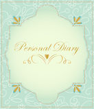 Vintage label - Personal Diary. Stock Photo