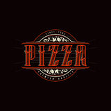 Vintage label for pizza Royalty Free Stock Image