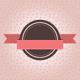 Vintage label with polka dot. Design on pink background stock illustration