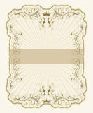 Vintage label with rays Stock Photography