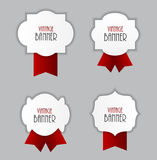 Vintage Label with Ribbon Vector Illustration Royalty Free Stock Photo
